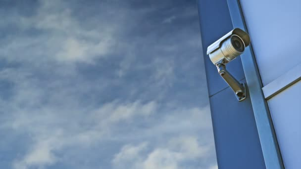 CCTV camera. Security camera on the wall. Private property protection. 1920x1080, 1080p, hd footage.