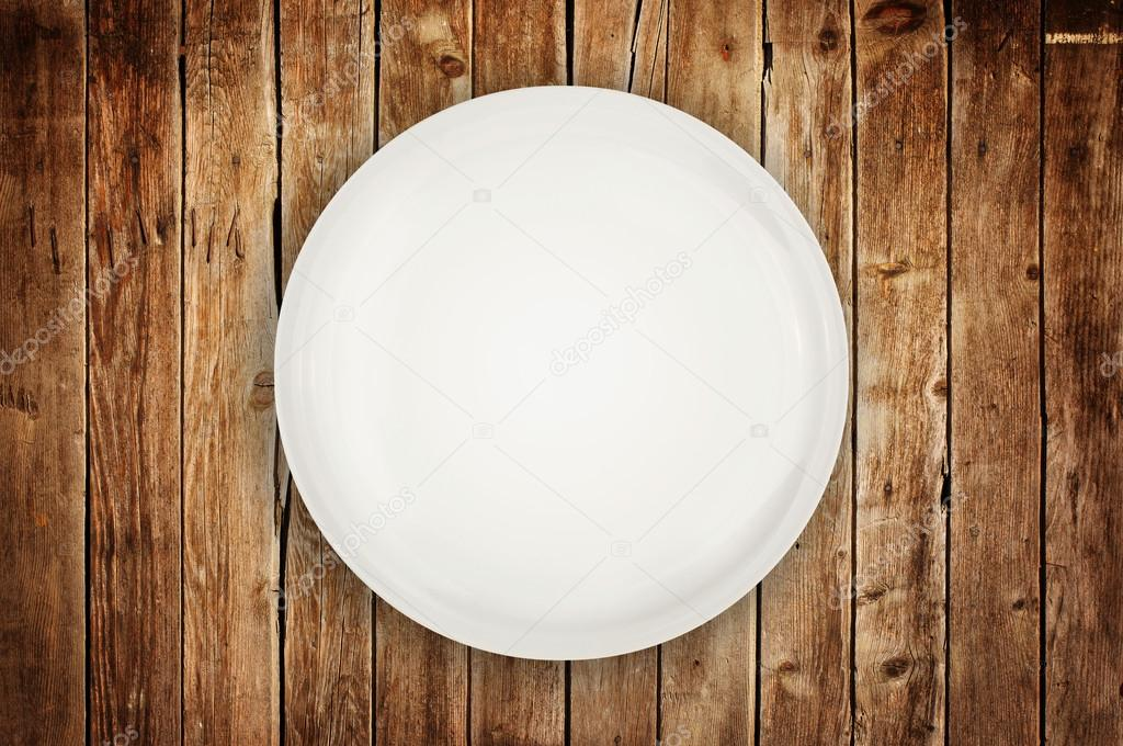 Empty Plate On Wooden Table Stock Photo Image By C Stevanovicigor 47126693