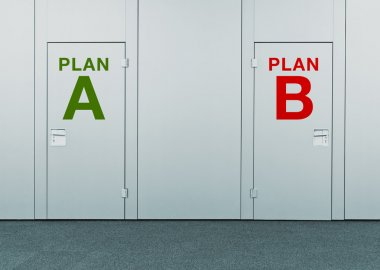 Plan A or Plan B, concept of choice