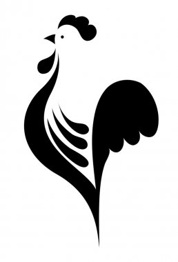 stylized cock