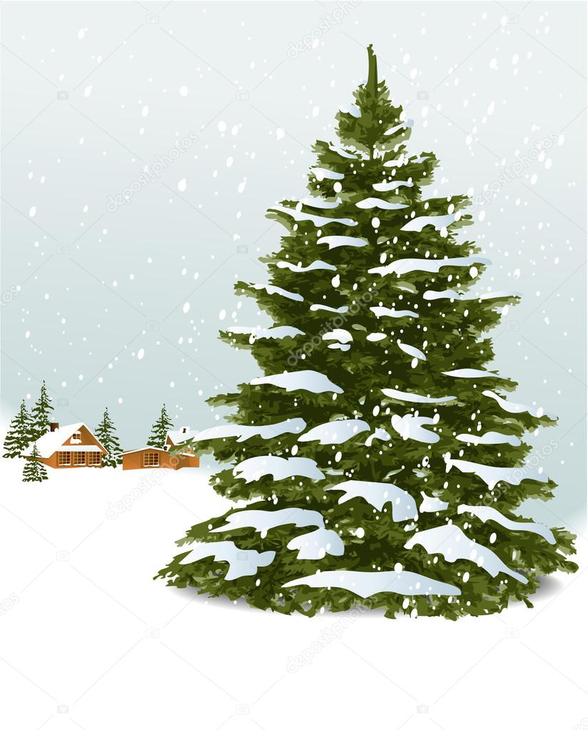 depositphotos 13602197 stock illustration christmas tree