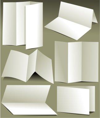 Blank white brochures