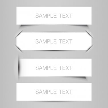 Black and White Tag, Label or Banner Designs in Freely Scalable and Editable Vector Format stock vector