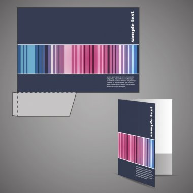 Corporate folder with die cut design