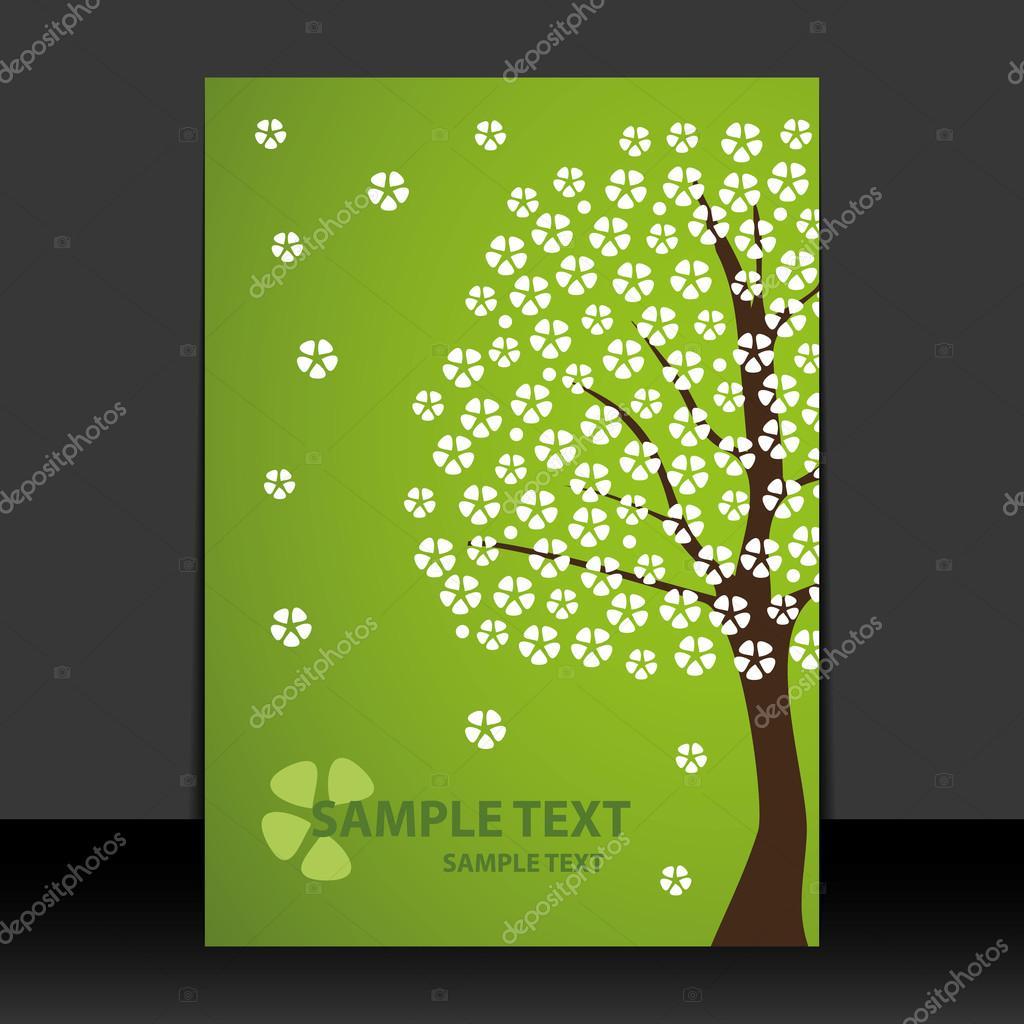 Flyer or Cover Design - Spring Time, Cherry Blossoms