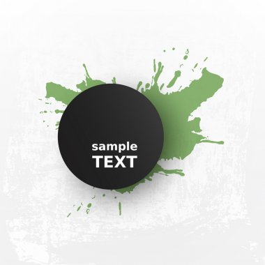 Abstract Grungy Background Design with Splashy Label
