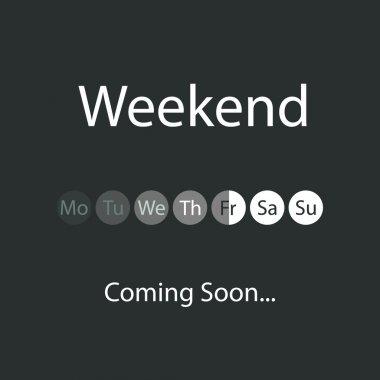 Weekend's Coming Soon Illustration