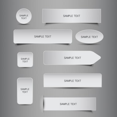 Set of Black and White Grungy Blank Header or Banner Designs - Illustration in Editable Vector Format stock vector