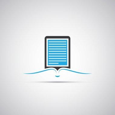 E-Book Reader Icon Design