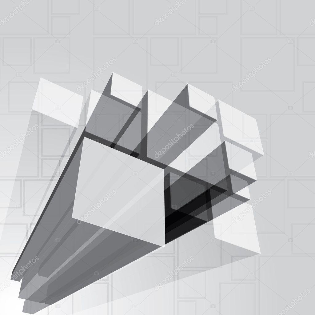 3d Prism Background Template Stock Vector Bagotaj 36281697