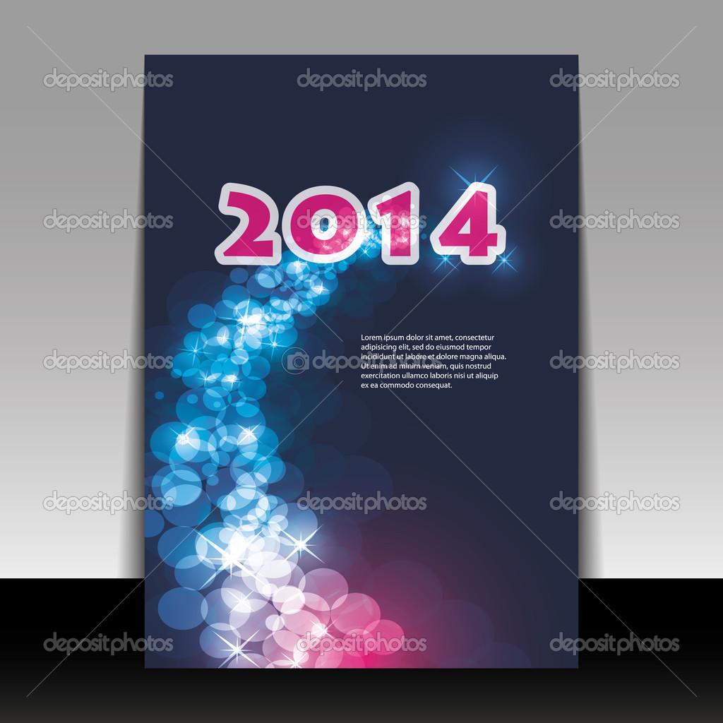 tarjeta de año nuevo fondo - 2014 — Vector de stock © bagotaj #37435831