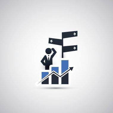 Business, Decision Making Icon Concept Design