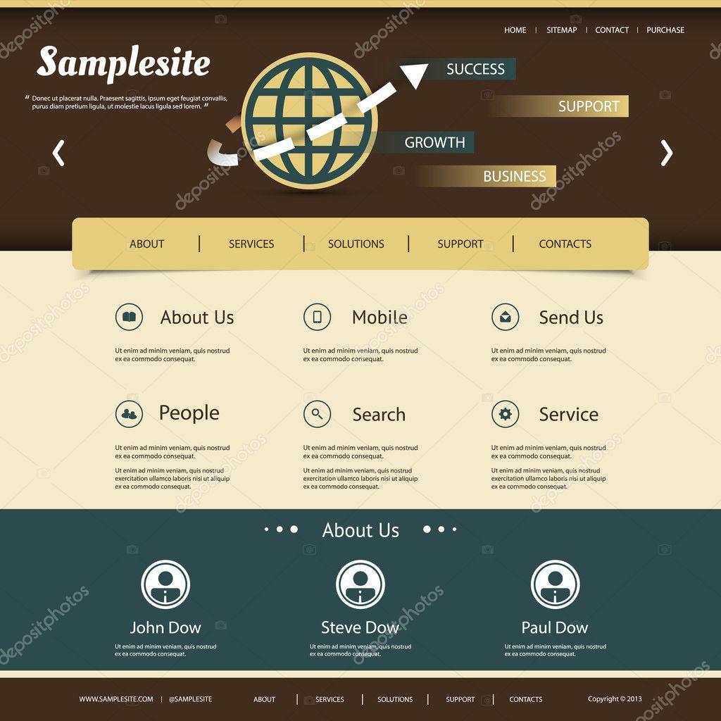 Website-Template für Ihr Geschäft oder blog — Stockvektor © bagotaj ...