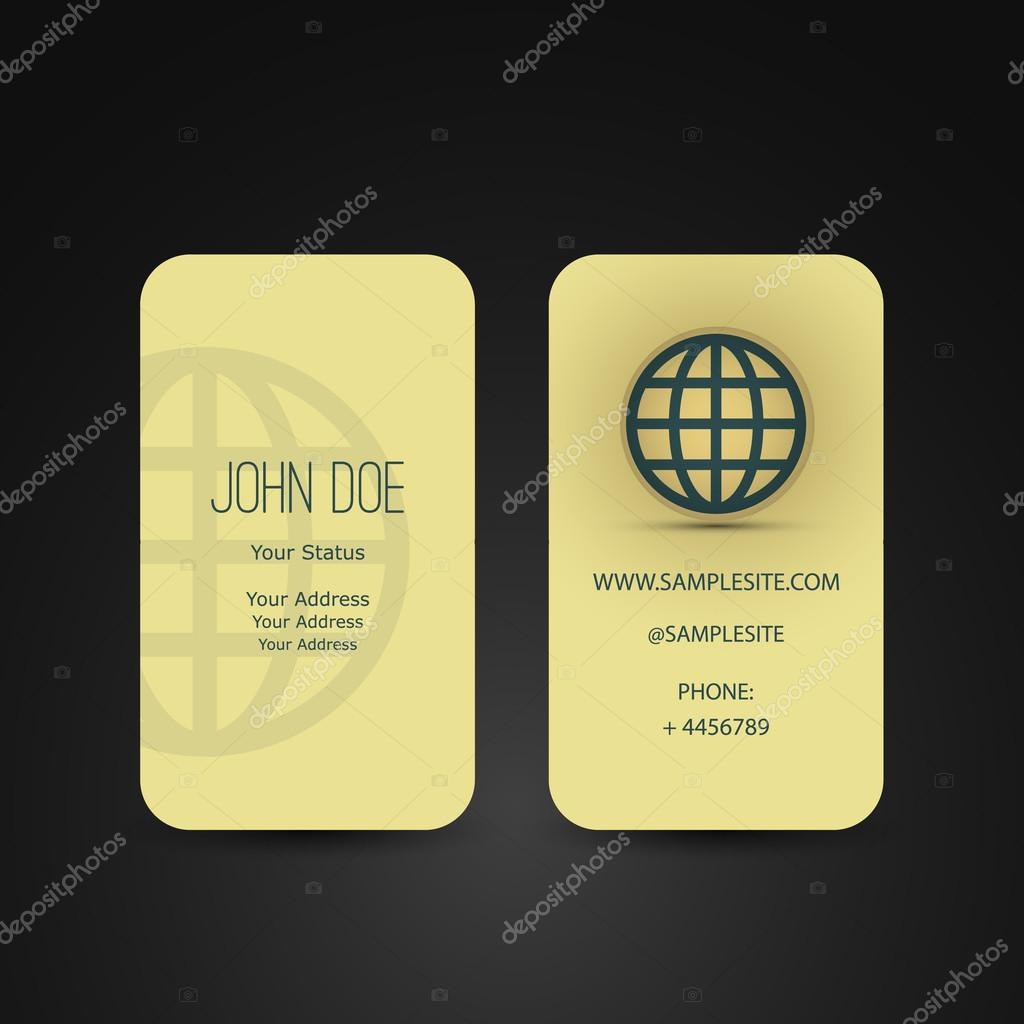 Business card with globe design stock vector bagotaj 40230485 abstract golden vertical business card design back and front side illustration in editable eps10 vector format vector by bagotaj reheart Images