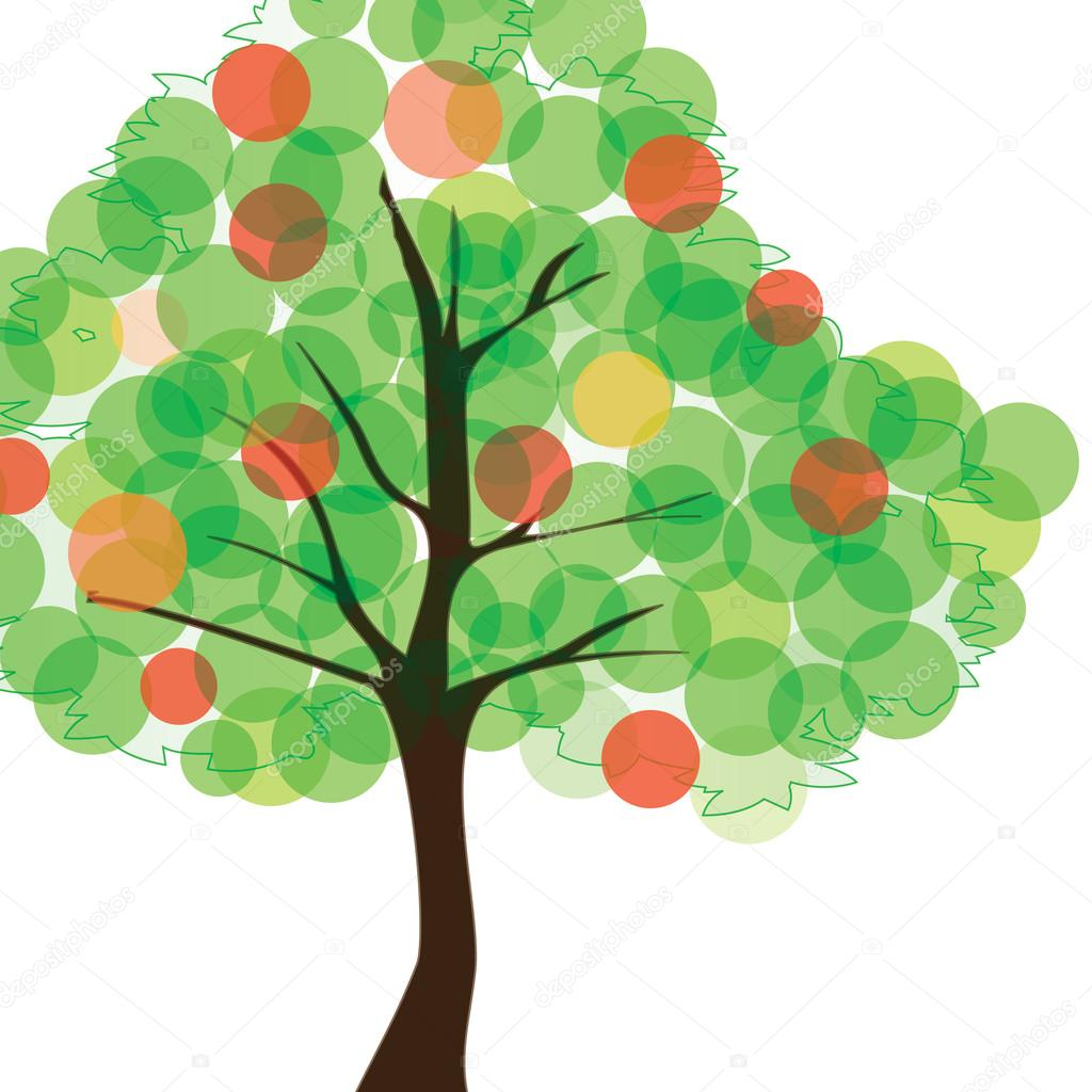 Abstract Background Vector - Tree Design