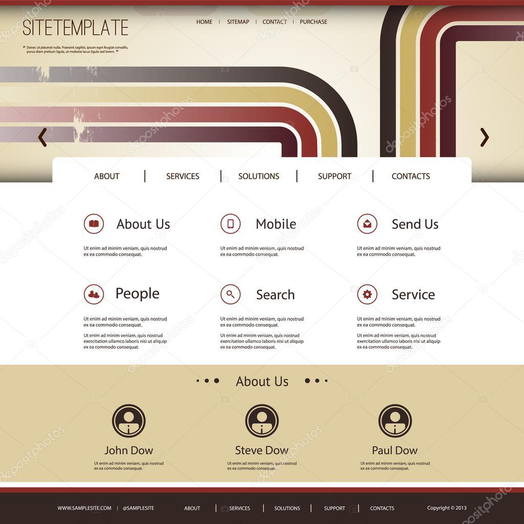 Muster für Website-Vorlage mit abstrakten Header-Design - bunt ...