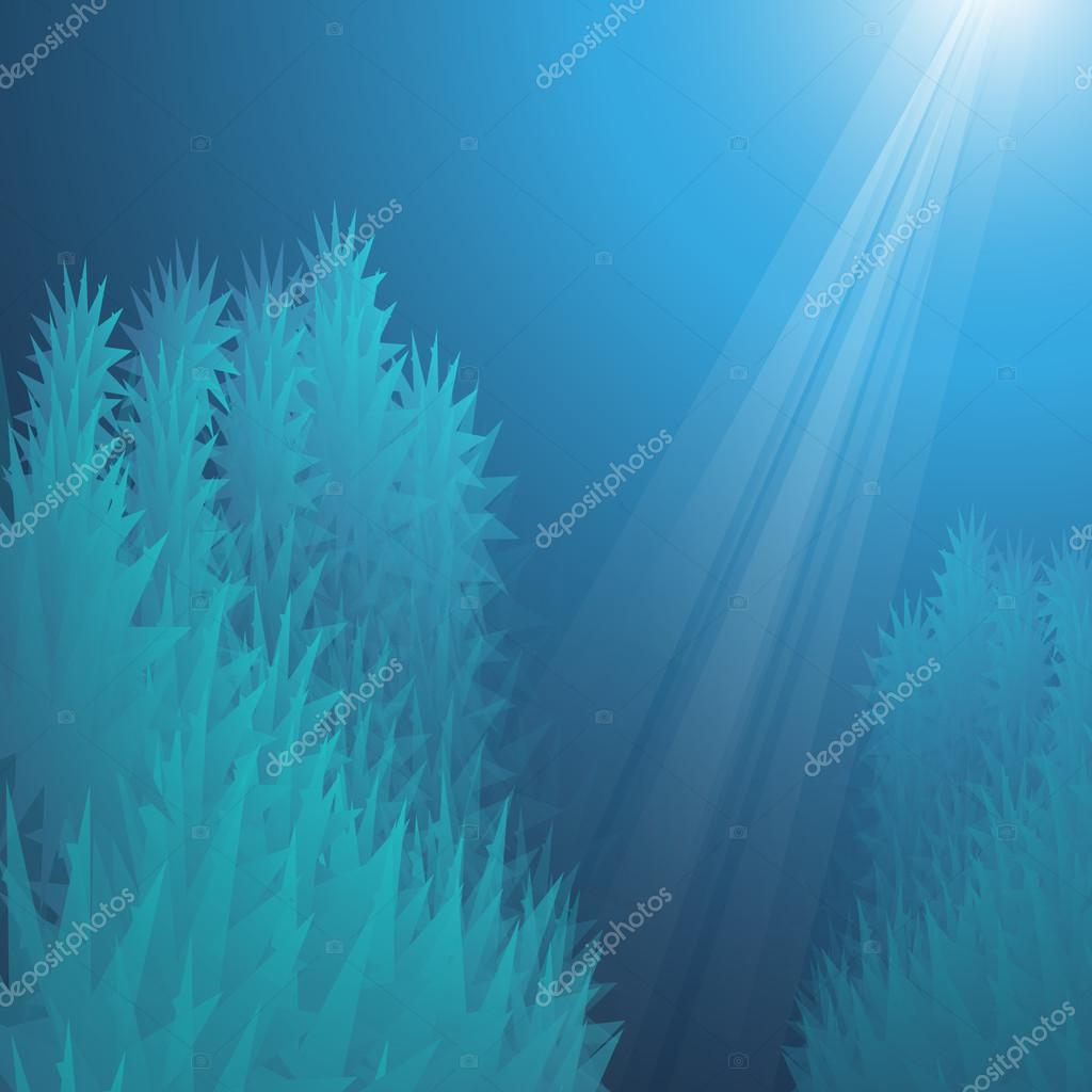 Deep Sea - Blue Abstract Background Design