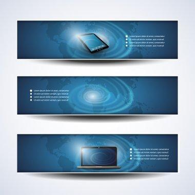 Banner or Header Designs - Cloud Computing, Networks