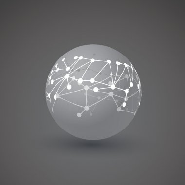Networks, Connections - Globe Design