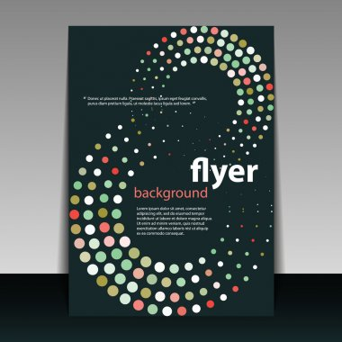 Flyer or Cover Design with Dots