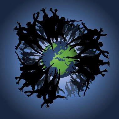 People Background: Eco, Earth