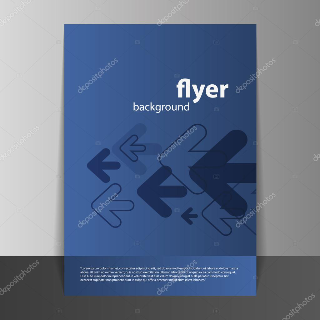 Flyer or Cover Design with Arrows