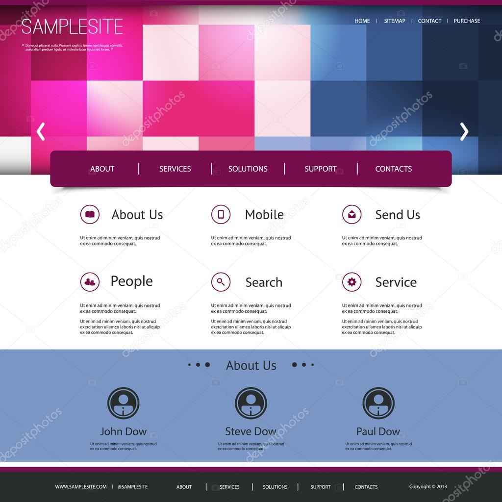 diseño de sitios web con el patrón a cuadros — Archivo Imágenes ...