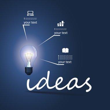 Ideas - Infographic Bulb Concept Design