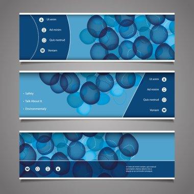 Web Design Elements - Header Designs with Bubbles