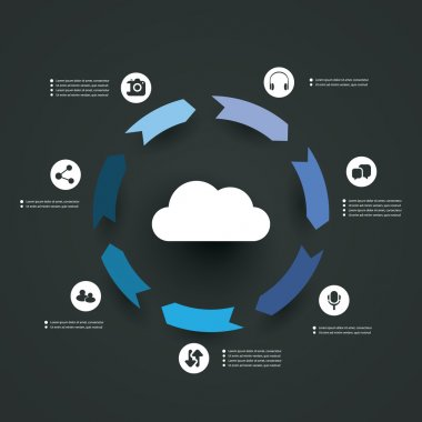 Cloud Computing Concept - Infographic Design