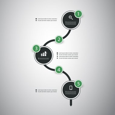 Infographic Concept - Flow Chart Design and Timeline