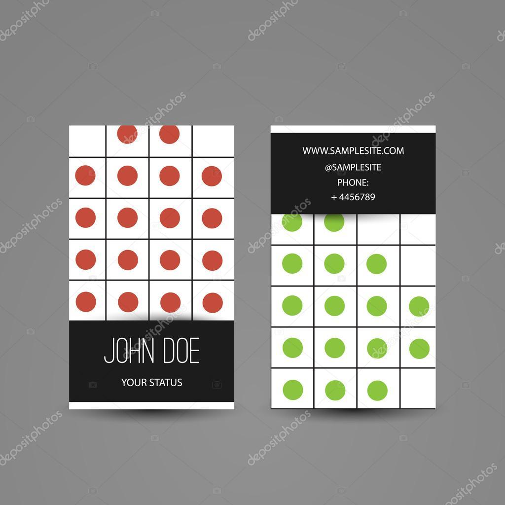 Abstrait Moderne Color De Style Carte Visite Verticale Modle Conception Crative