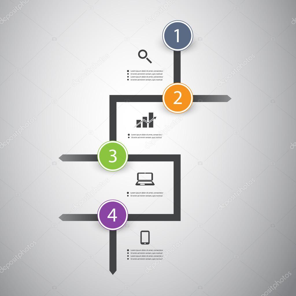 Infographic Concept Flow Chart Design Stock Vector C Bagotaj 49896483