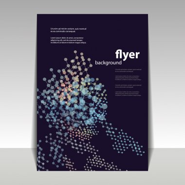 Flyer or Cover Design with Abstract Networks Pattern