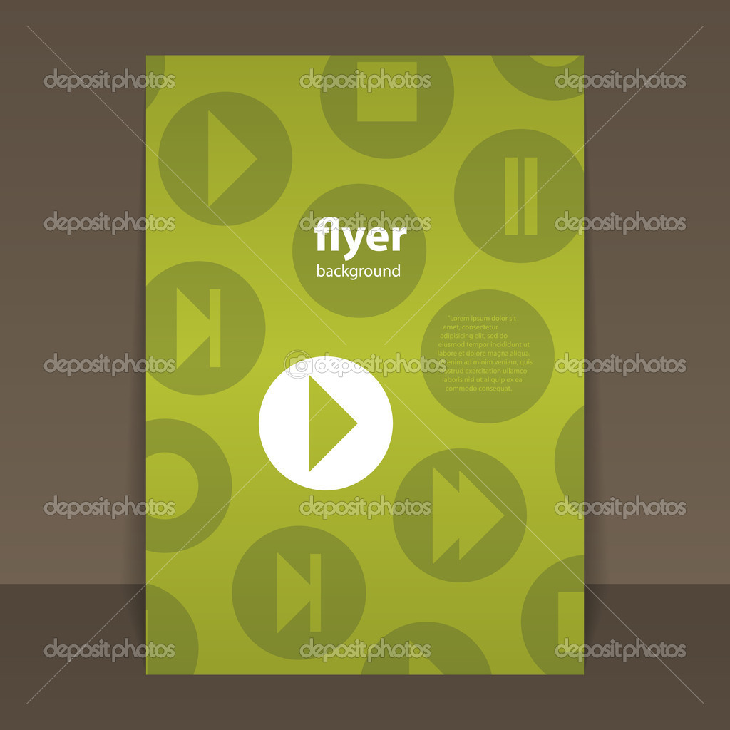 Flyer or Cover Design with Music Related, Media Player