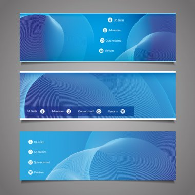 Website Design Elements - Header Designs with Abstract Pattern