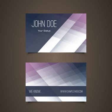 Business Card Template with Abstract Colorful Design