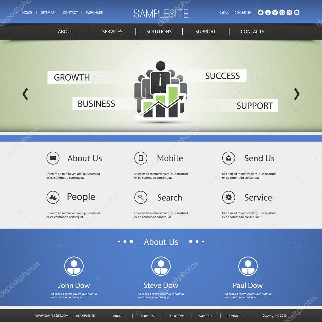Business-Website-Vorlage-Design - Wachstum, Erfolg, Business ...