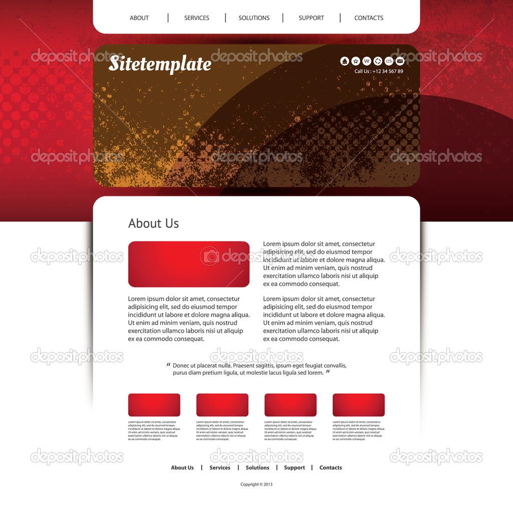Homepagevorlage mit abstrakten Header-Design - bunten Hintergrund ...