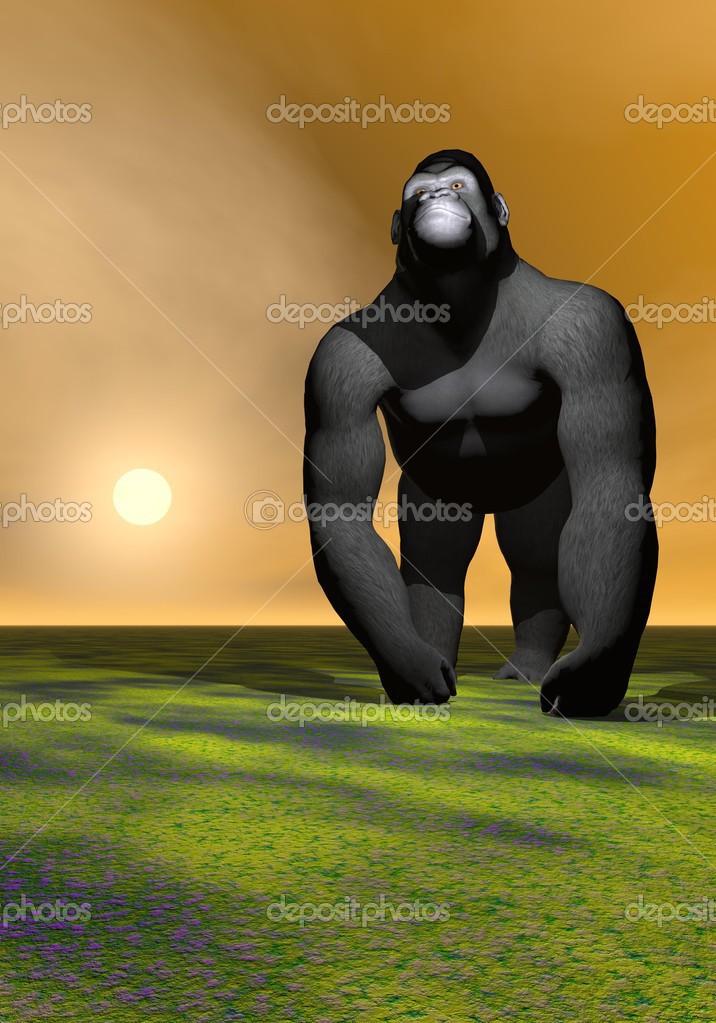 un gorila que piensa — Foto de stock © mariephotos #23987617