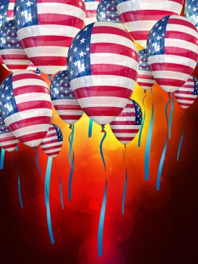 Independence Day July 4 holiday balloons
