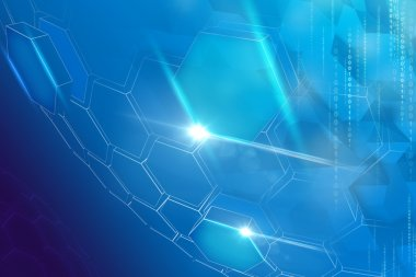 Abstract technology hexagons background