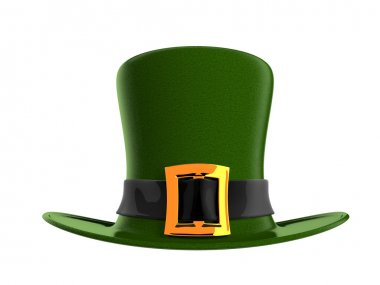 Illustration of green hat in saint Patrick Day - isolated on white