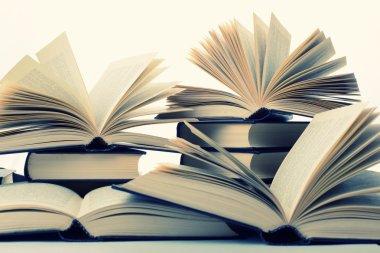 Books closeup