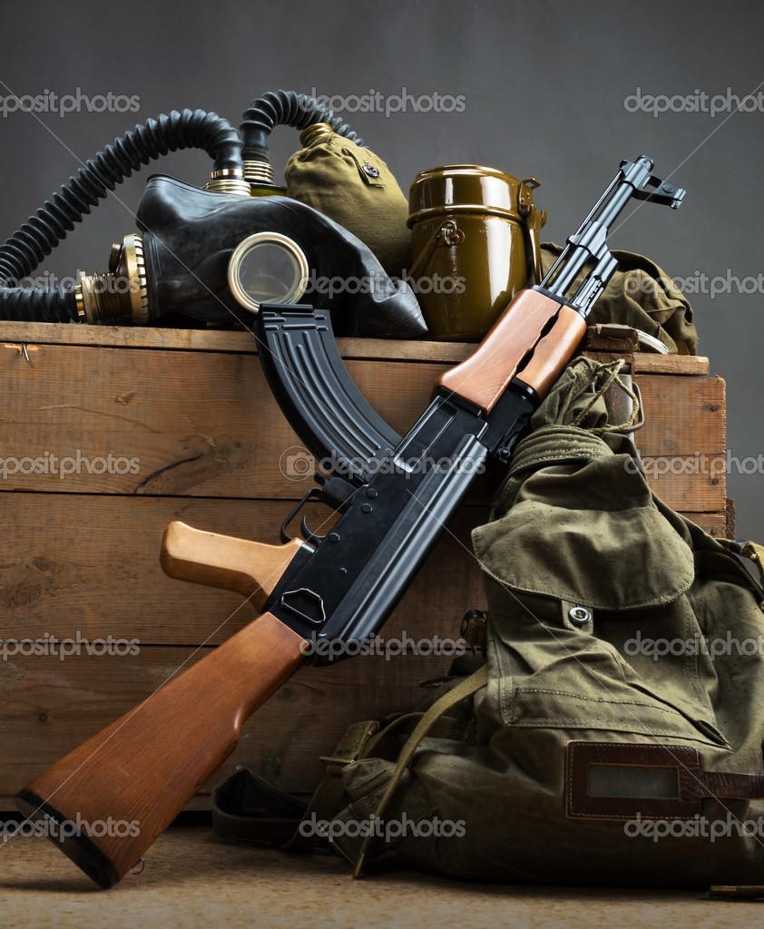 e9d61e7ad272 Régi szovjet katonai felszerelések — Stock Fotó © Nomadsoul1 #23716373