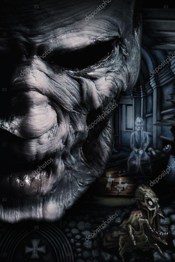 Portrait of dark deadman