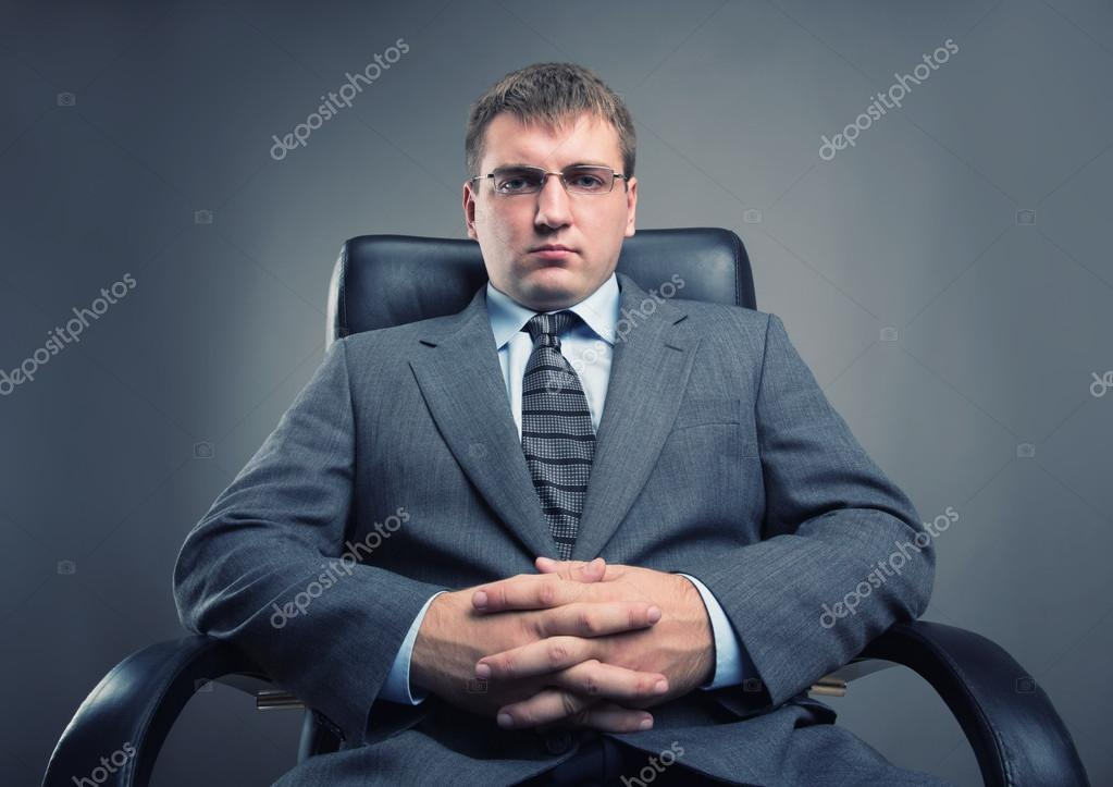 Boss in a chair