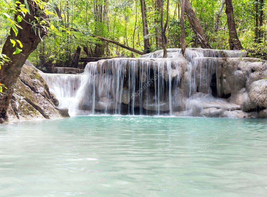 Tropical waterfall Erawan