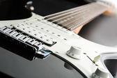 Fotografia nera chitarra elettrica