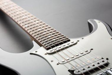 Crop view of electric guitar